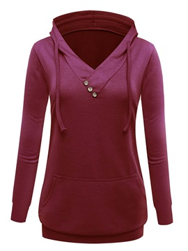Casual Multi Color Pocket Hoodie