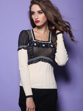 Retro Style Patchwork Pullover
