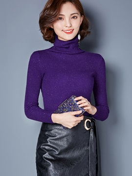 Stylish Turtleneck Slim Sweater