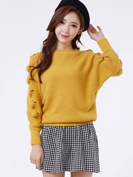 Stylish Pullover Plain Sweater