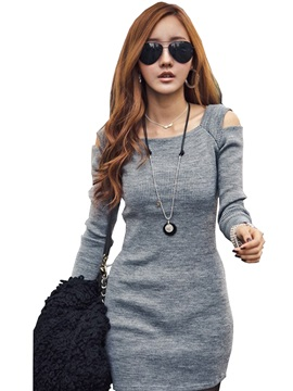 New Style Slim Long Sleeve Day Dress