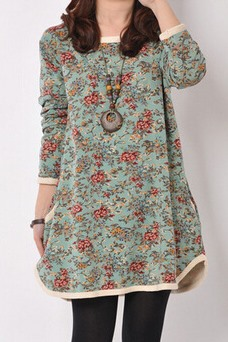 New Multi Color Floral Half Sleeve Casual Dress