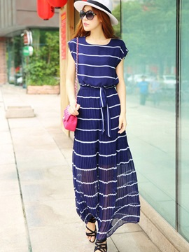 European Style Stripe  Dress