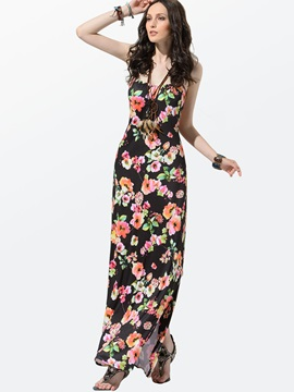Clocolor® Spaghetti Strap Backless Maxi Dress