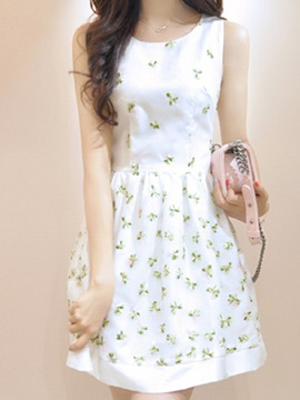 Organza Embroidery Bubble Dress