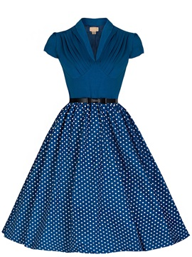 Vintage Polka Dots Skater Dress