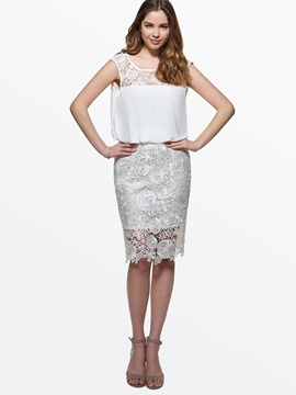 Lace  Backless Day Dress
