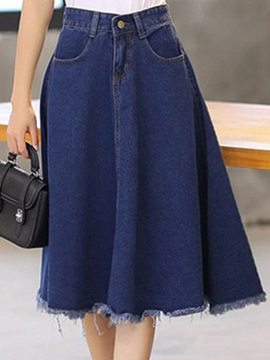 Vintage Expansion Empire Waist Skirt