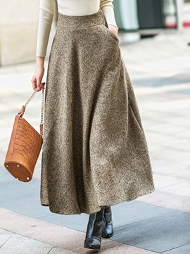 Thicken Retro Winter Long Skirt