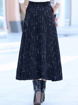 Plaid Printed Pleated Vintage Skirt