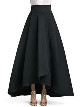 High Waisted Black European Women's Skirts (Plus Size Available)