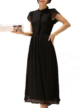 Tidebuy Vintage Chiffon Long Dress