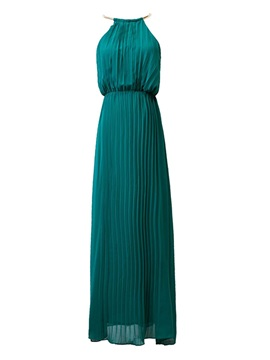 Chic Backless Solid Color Sleeveless Maxi Dress