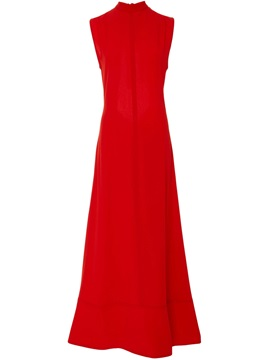 Red Sleeveless Backless Maxi Dress