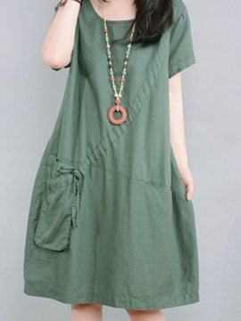 Casual One Pocket Day Dress