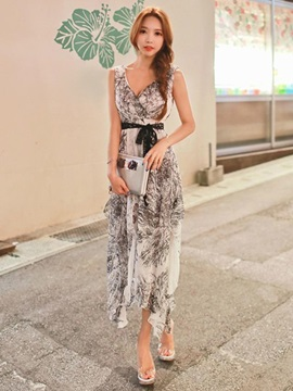 Bohemian Asymmetric Maxi Dress