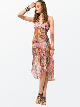 Clocolor® Halter Backless Maxi Dress