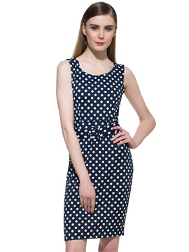 Gorgeous Polka Dots Bodycon Dress