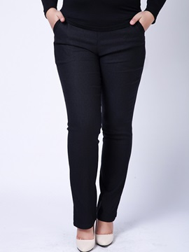 Plus Size Stretchy High-Waist Pant