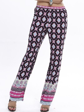 Stylish Geometrical Printing Loose-Fit Pant