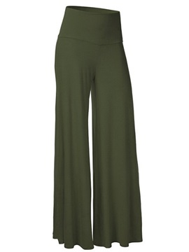 Solid Color Wide-Leg Pant