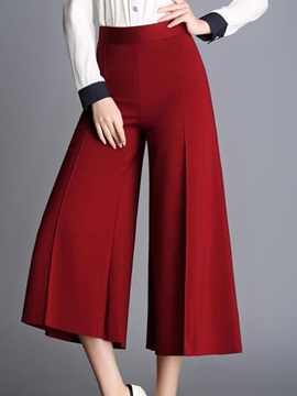 Pure Color Wide-Leg Pant