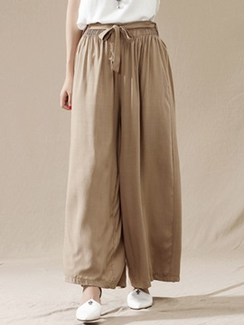 Retro Strap Pleated Wide Leg Casual Pants