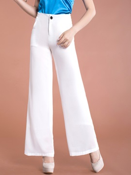 Solid Color Palazzo Formal Pants