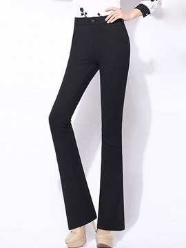 High Waisted OL Fashionable Women's Pants (Plus Size Available)