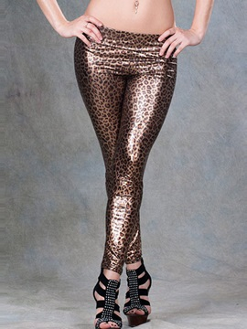 Glamour Leopard Printed Pencil Leggings