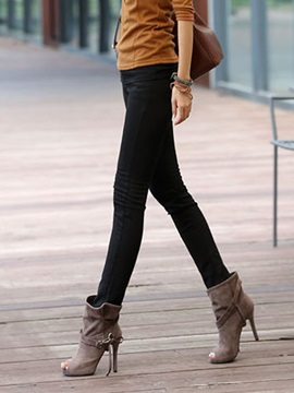 Warm Solid Color Leggings