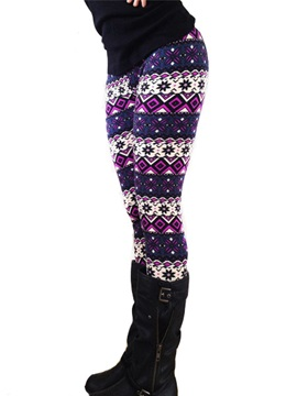 Multicolor Printed Skinny Leggings