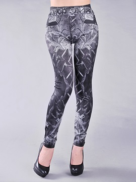 Chic Geometrical Printed Slim Leggings