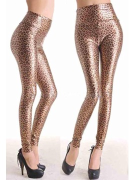 Golden Faux Leather Leggings