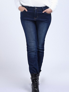 Plus Size Thickening Pencil Jean