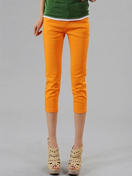 Candy Color Cropped Jeans