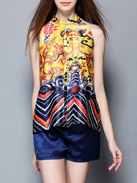 Chinese Tradition Dragon Totem Printed Zipper Suits