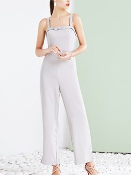 Serenity Gallus Pleated Bowknot Jumpsuit
