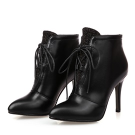Lace-Up Pointed Toe Women's Ankle Boots