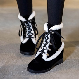 Purfle Lace-Up Suede Booties