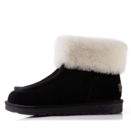 Faux Fur Suede Slip-On Winter Boots