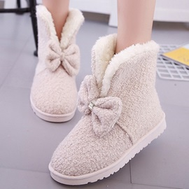 Front Bowknots Slip-On Booties
