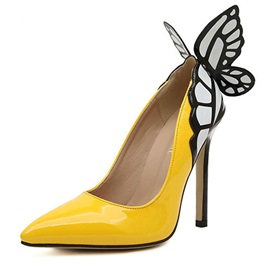 Dreamy Butterfly Wings Pointed Toe Heels