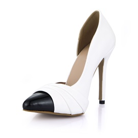 Contrast Color Cover Toe Classic Pumps