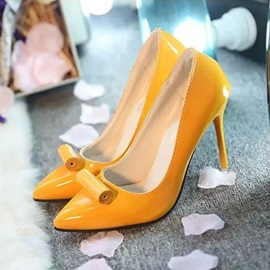 Solid Color Pointed Toe Stiletto Heel Pumps