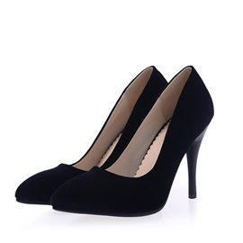 Suede Round Toe Suede Classic Pumps