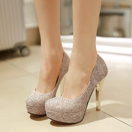 Elegant Sequins Slip-On Prom Shoes