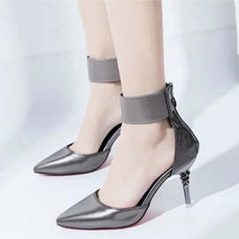 Professional PU Zipper High Heel Women's Pumps