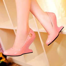 Candy Color Strange Heel Wedges