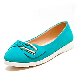 Bowknot Decorated Solid Color Flats